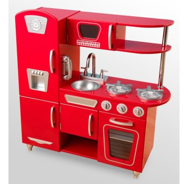 Kid's love kitchen sets, and this retro playset is gorgeous.