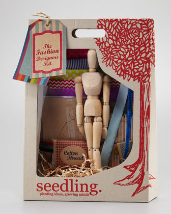 This kit comes with everything you need to design and make your own doll clothes.